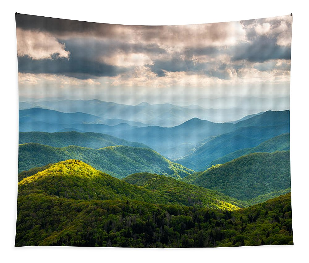 Great Smoky Mountains Tapestry featuring the photograph Great Smoky Mountains National Park NC Western North Carolina by Dave Allen