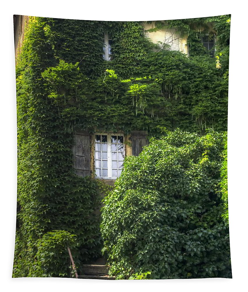 Michelle Meenawong Tapestry featuring the photograph Green Entrance by Michelle Meenawong