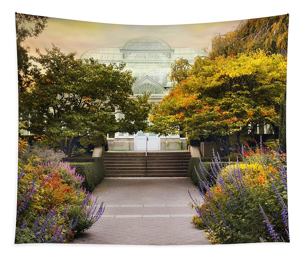 Greenhouse Tapestry featuring the photograph Greenhouse Garden by Jessica Jenney