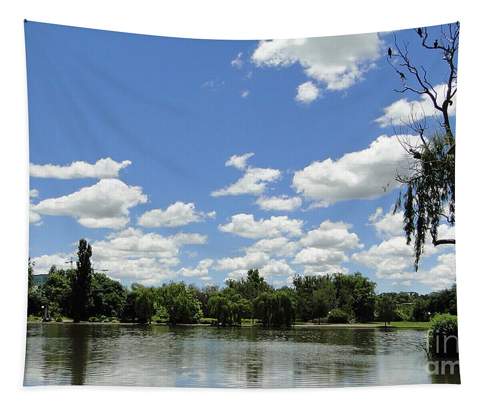 Lake Tapestry featuring the photograph Griffin Lake by Ben Yassa
