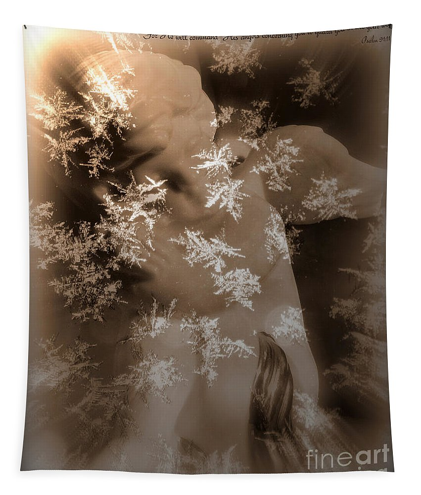 Art Tapestry featuring the photograph Guardian Angel by Linda Galok