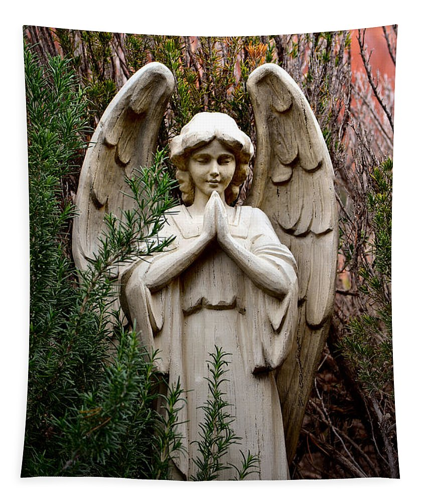 Angel Tapestry featuring the photograph Guardian Of The Garden by Deb Halloran