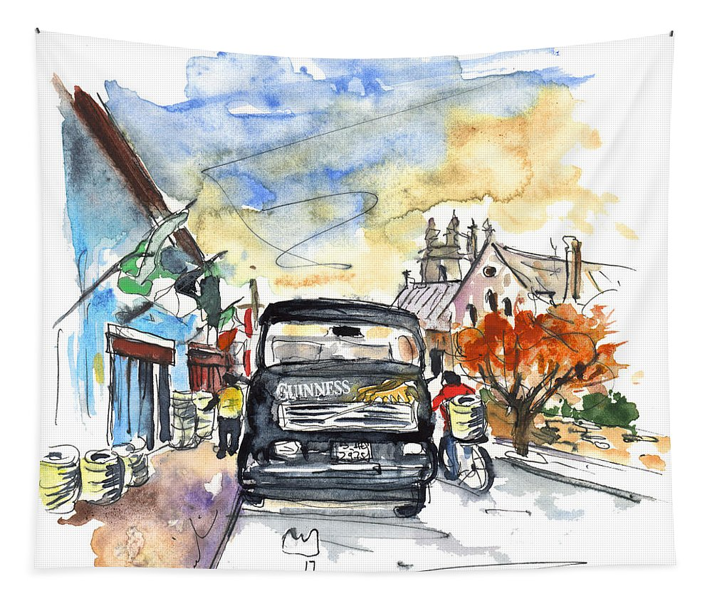Travel Tapestry featuring the painting Guinness Delivery In Howth by Miki De Goodaboom