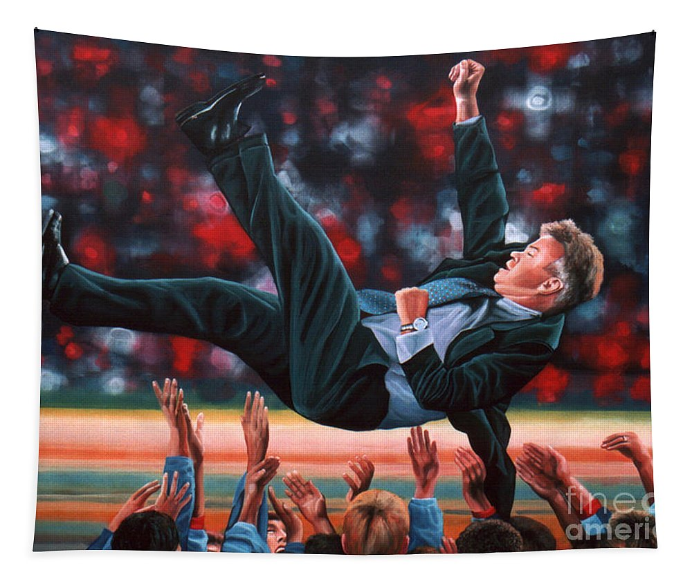 Guus Hiddink Tapestry featuring the painting Guus Hiddink by Paul Meijering