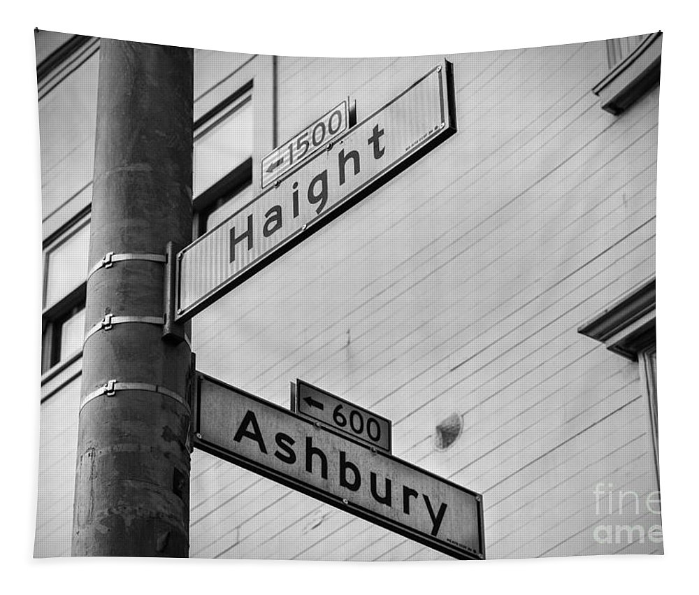 San Francisco Tapestry featuring the photograph Haight And Ashbury by Jerry Fornarotto