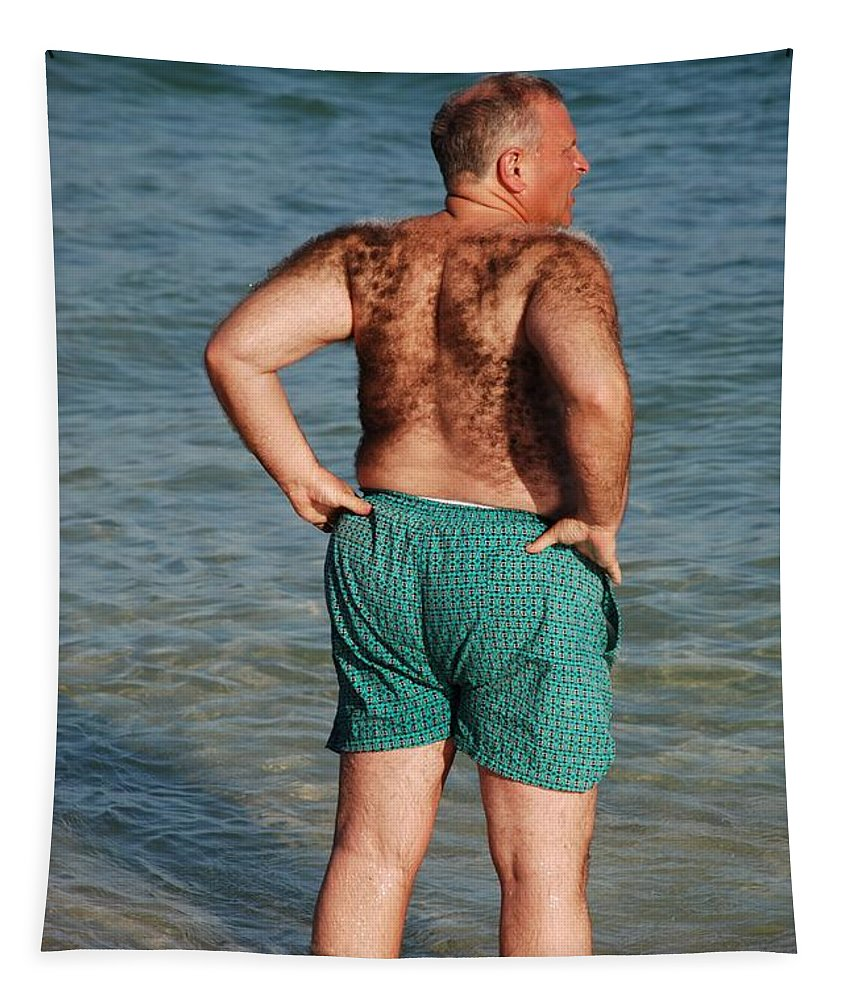 Man Tapestry featuring the photograph Hairy Ocean by Rob Hans