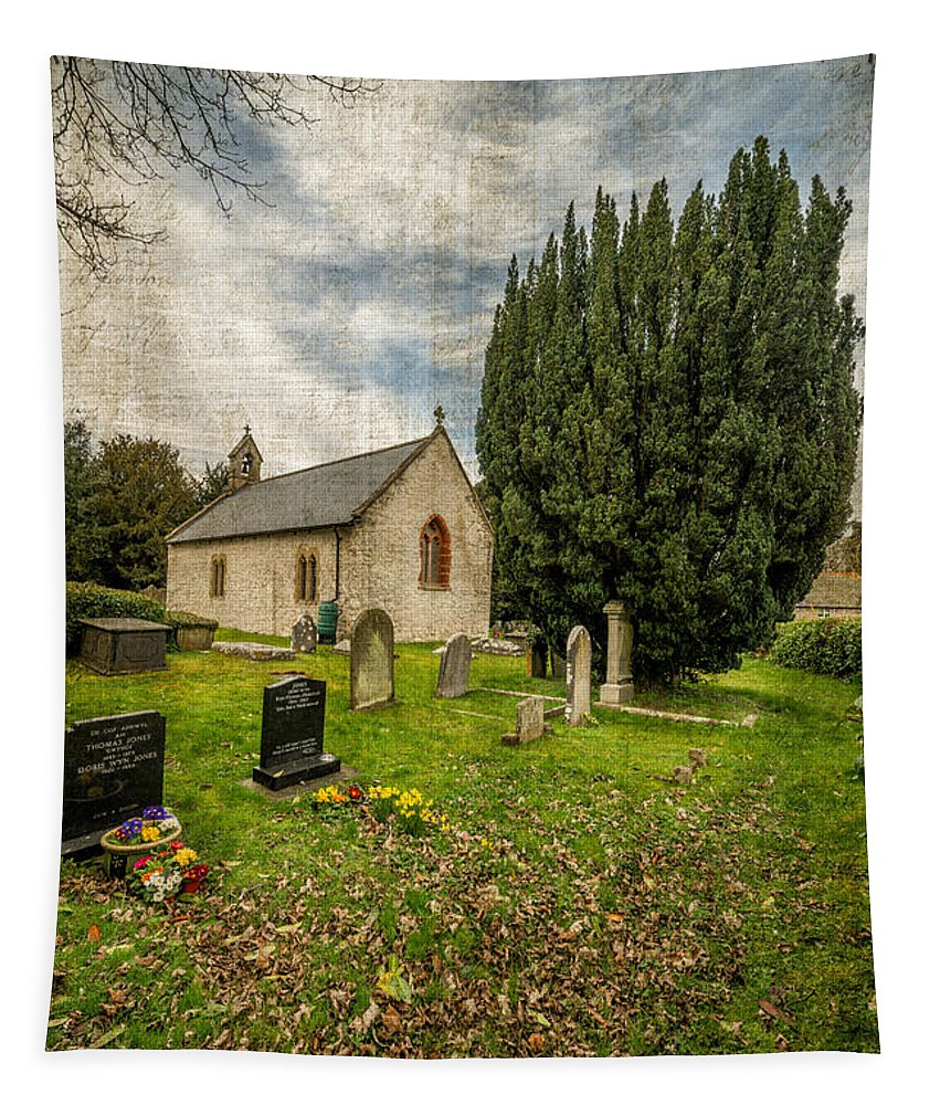 13th Century Tapestry featuring the photograph Hamlet Church by Adrian Evans