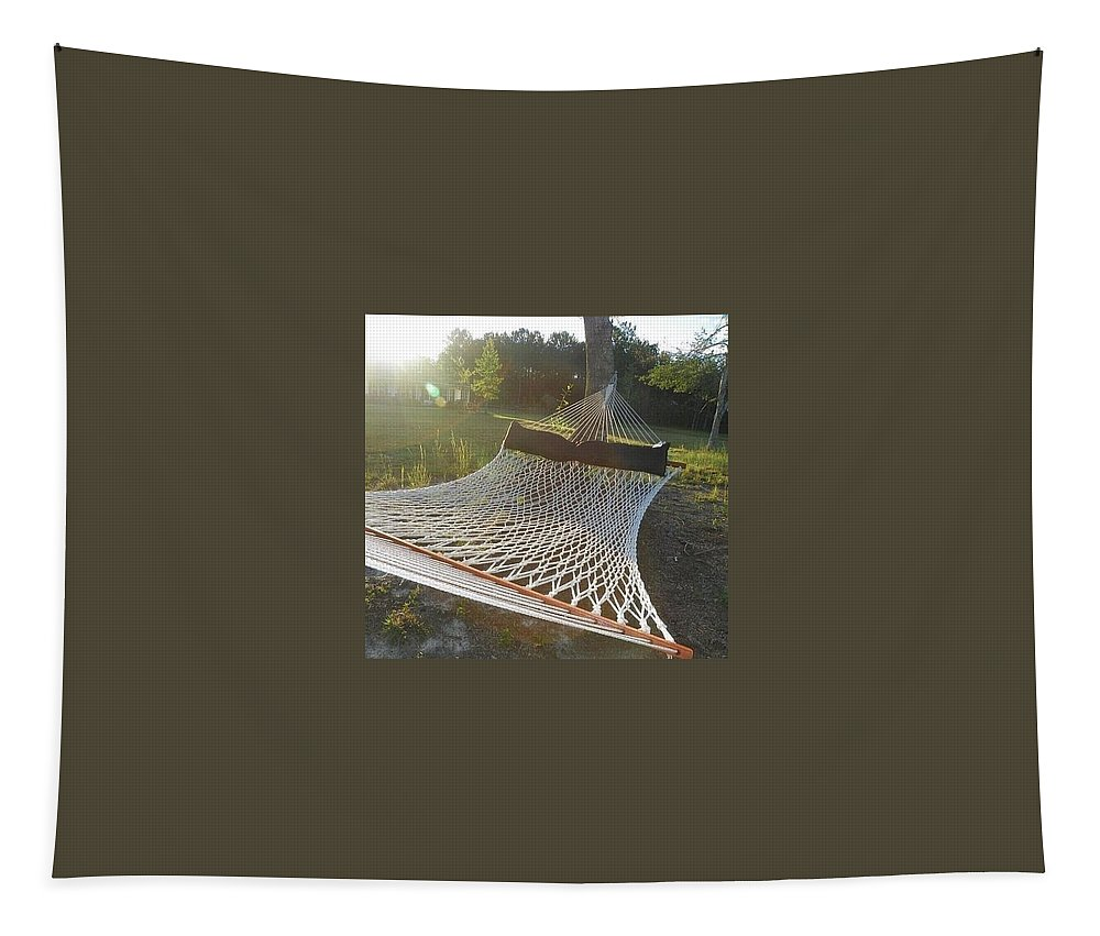 Hammock Tapestry featuring the photograph Hammock Time by Lisa Wooten