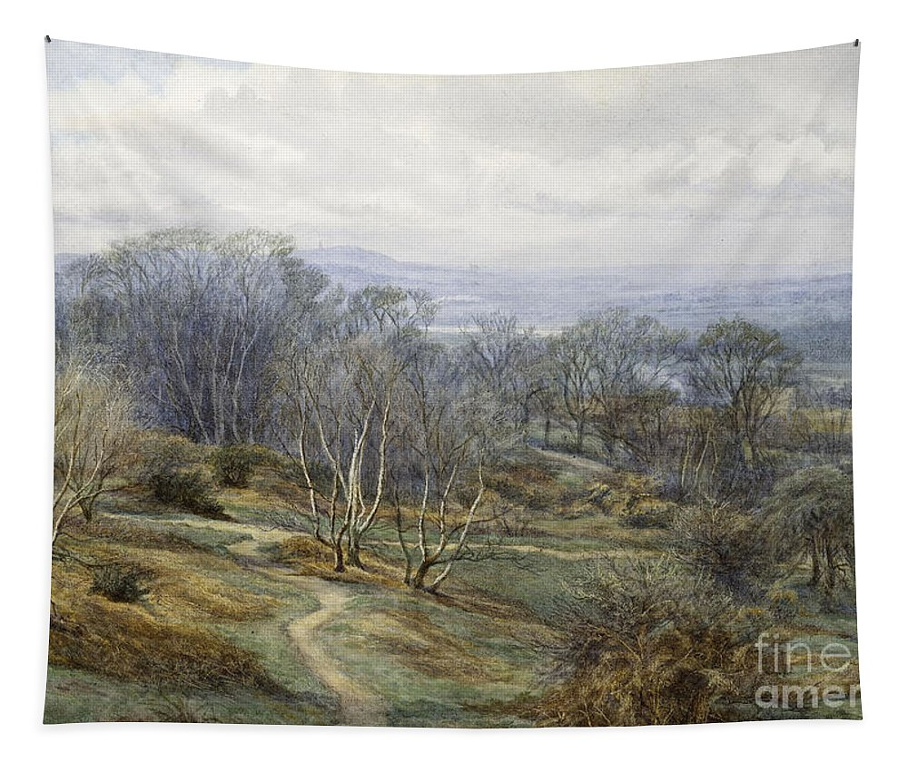 Hampstead Heath Tapestry featuring the painting Hampstead Heath Looking Towards Harrow On The Hill by Edith Martineau