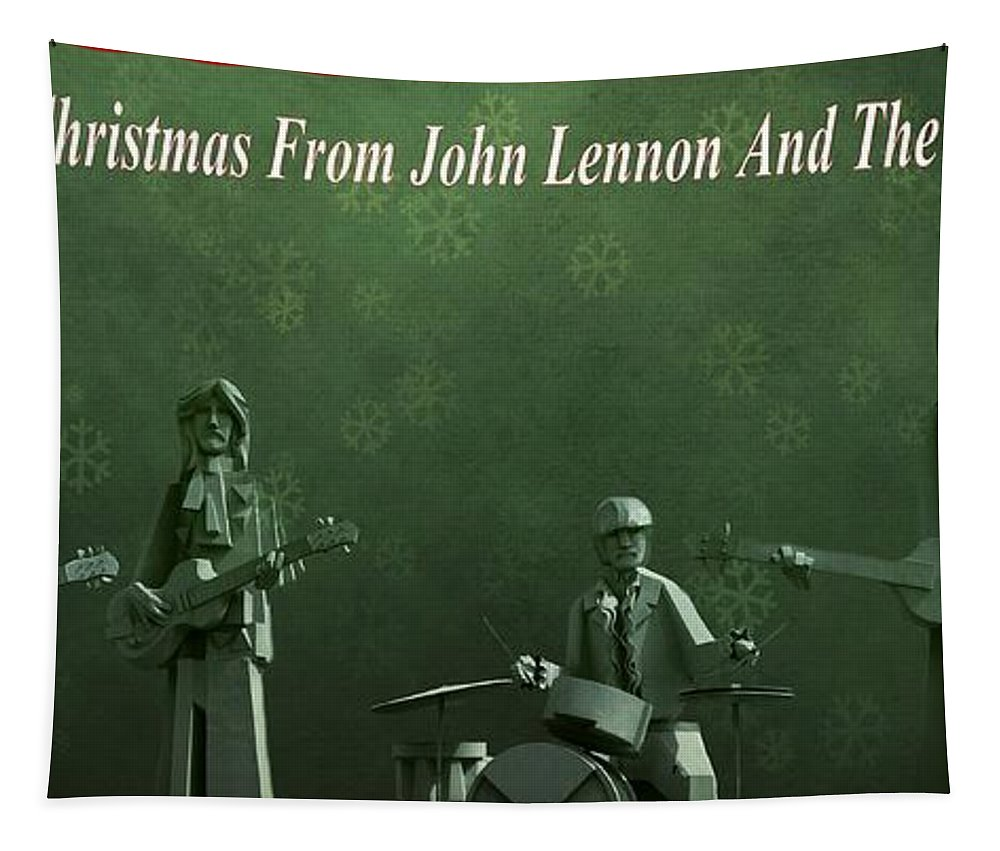 Happy Christmas From John Lennon Tapestry featuring the photograph Happy Christmas From John Lennon by Dan Sproul