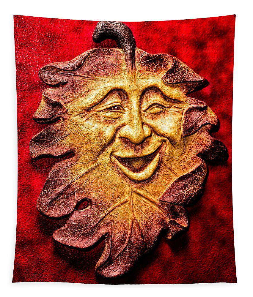 Christopher Holmes Photography Tapestry featuring the photograph Happy Leaf by Christopher Holmes