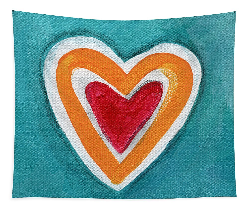 Love Tapestry featuring the painting Happy Love by Linda Woods
