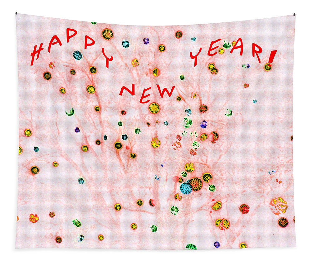 Computer Graphics Tapestry featuring the photograph Happy New Year by Marian Bell