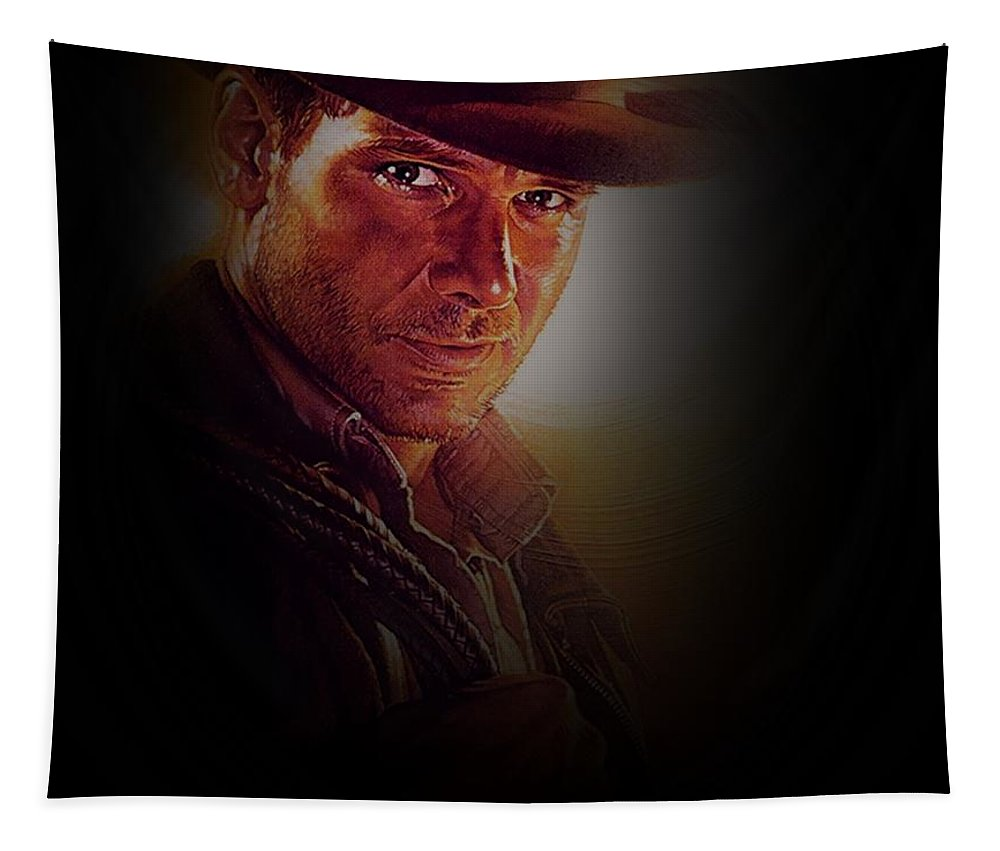 Indy Tapestry featuring the photograph Harrison Ford As Indiana Jones by Movie Poster Prints