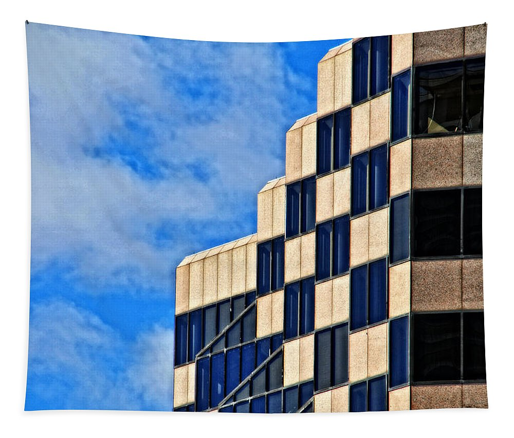 City Tapestry featuring the photograph Hartford Windows No 1 by Mike Martin
