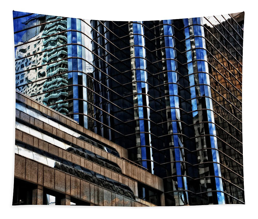 City Tapestry featuring the photograph Hartford Windows No 2 by Mike Martin