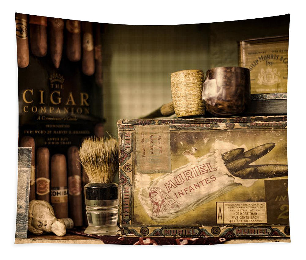Cigar Tapestry featuring the photograph Have A Cigar by Heather Applegate