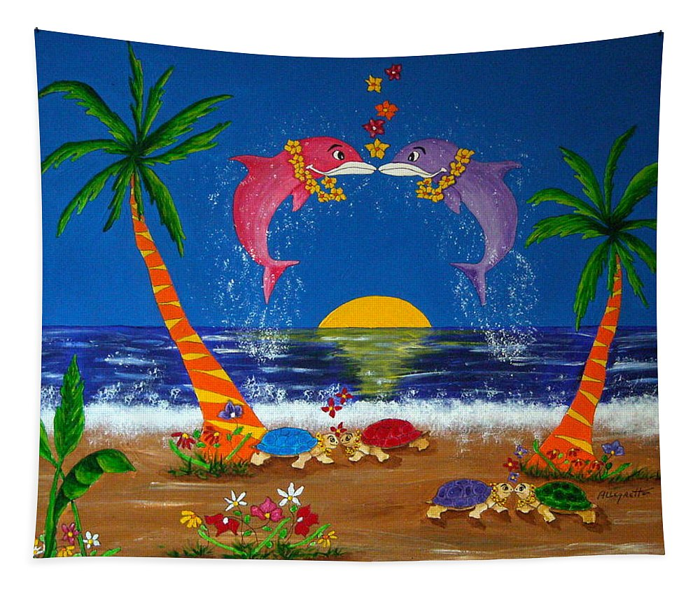 Allegretto Art Tapestry featuring the painting Hawaiian Island Love by Pamela Allegretto