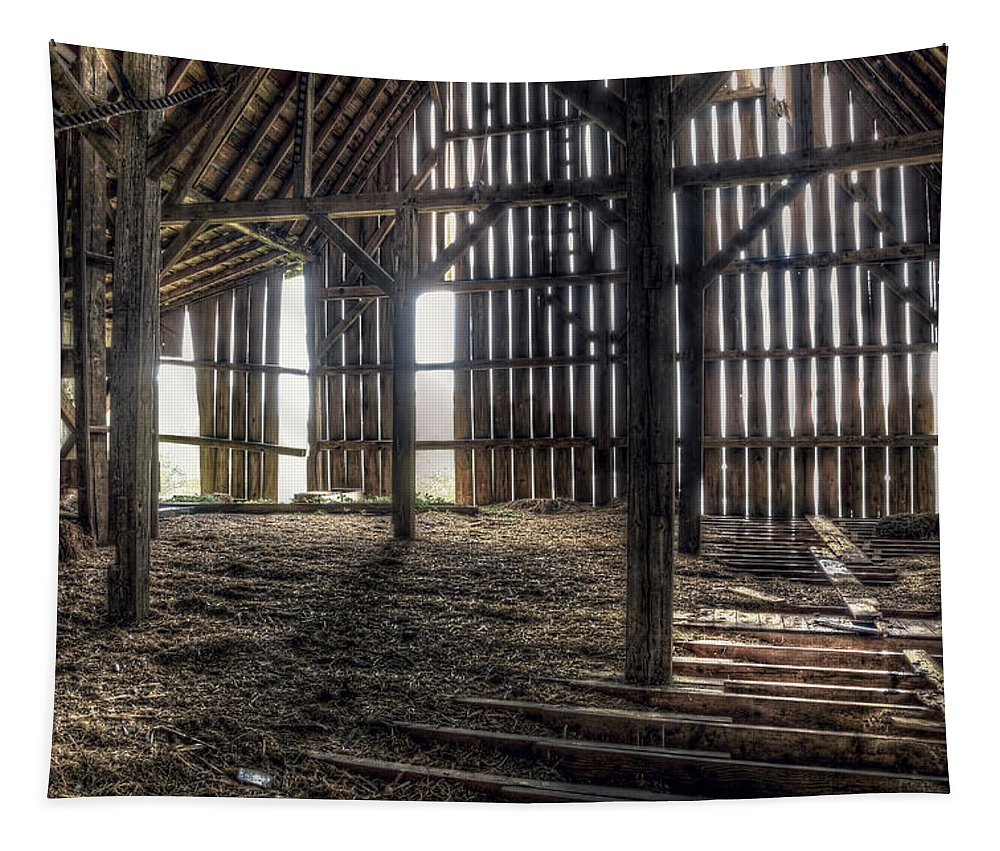 Barn Tapestry featuring the photograph Hay Loft 2 by Scott Norris