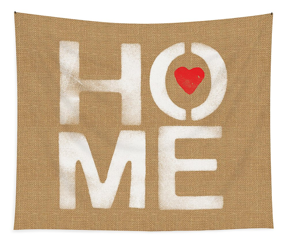 Home Tapestry featuring the painting Heart and Home by Linda Woods