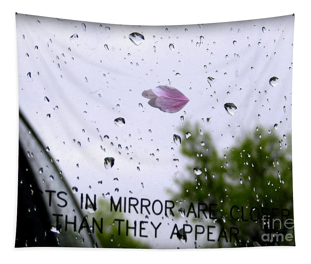 Art Tapestry featuring the photograph Heart In The Rearview Mirror by Linda Galok
