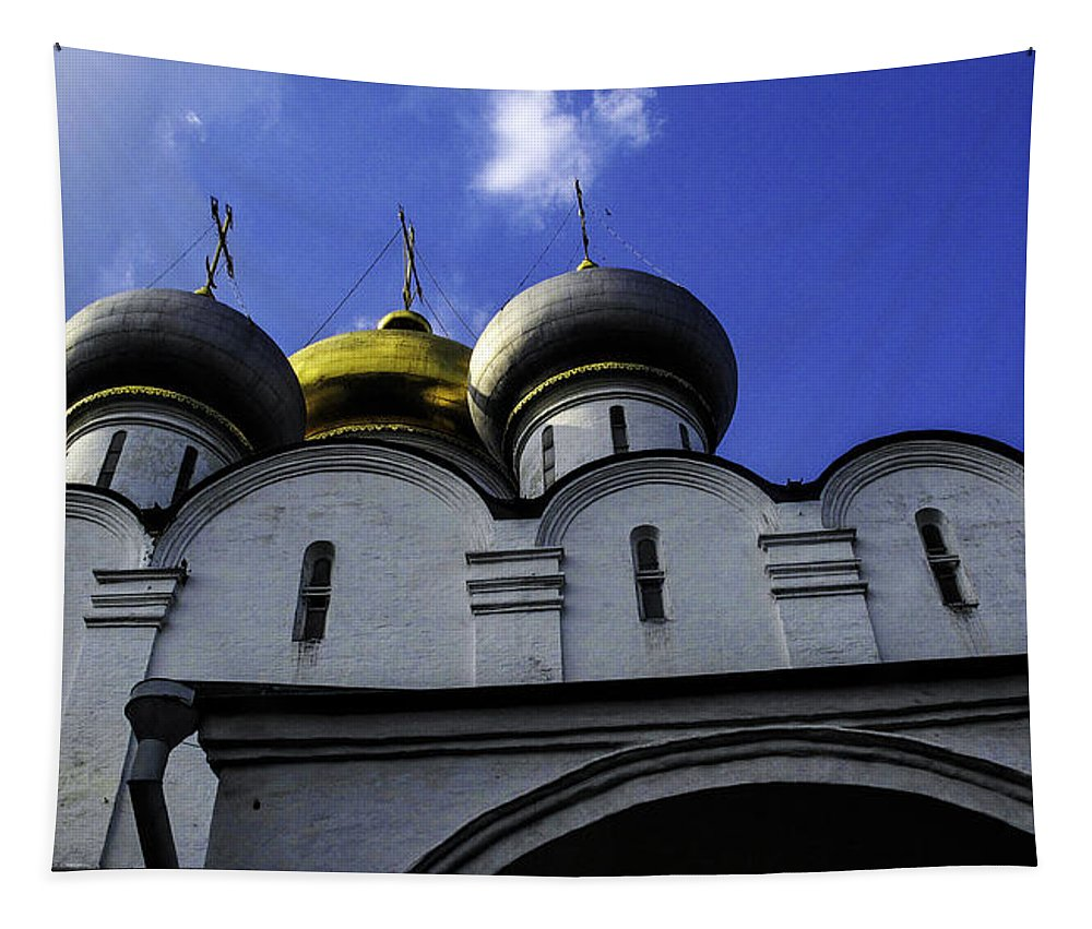 Convent Tapestry featuring the photograph Heavenly Look - Moscow - Russia by Madeline Ellis