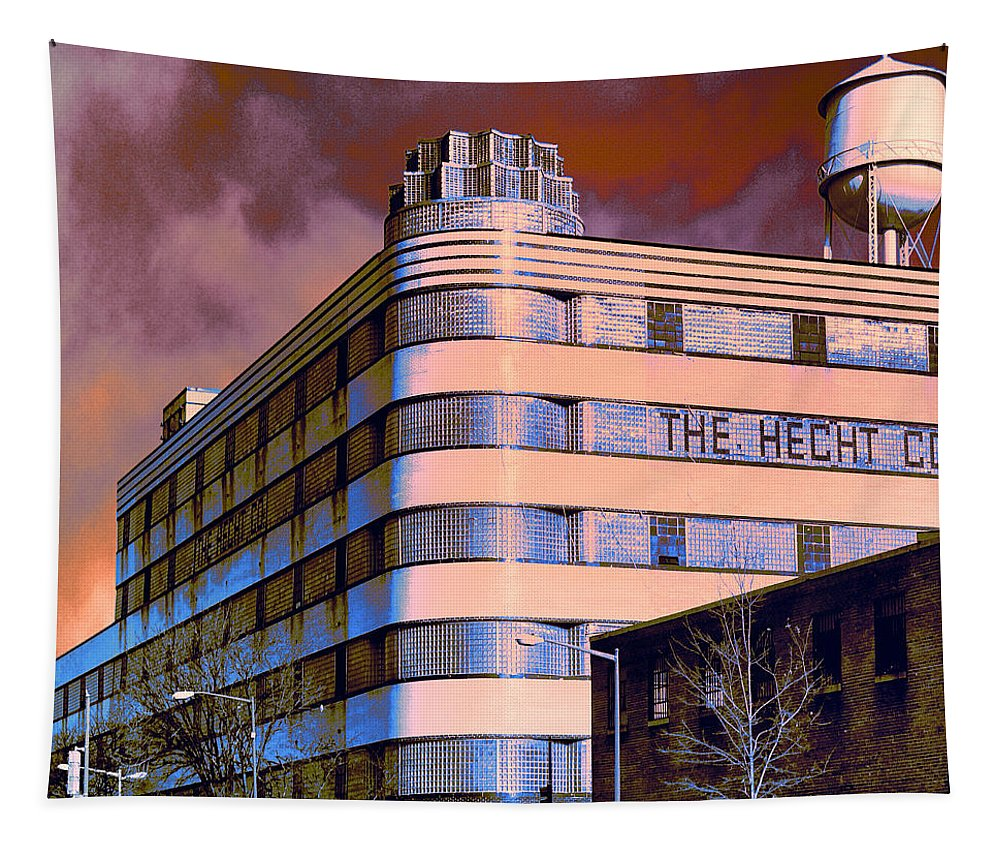 The Hecht Co. Tapestry featuring the photograph Hecht Warehouse by Dominic Piperata