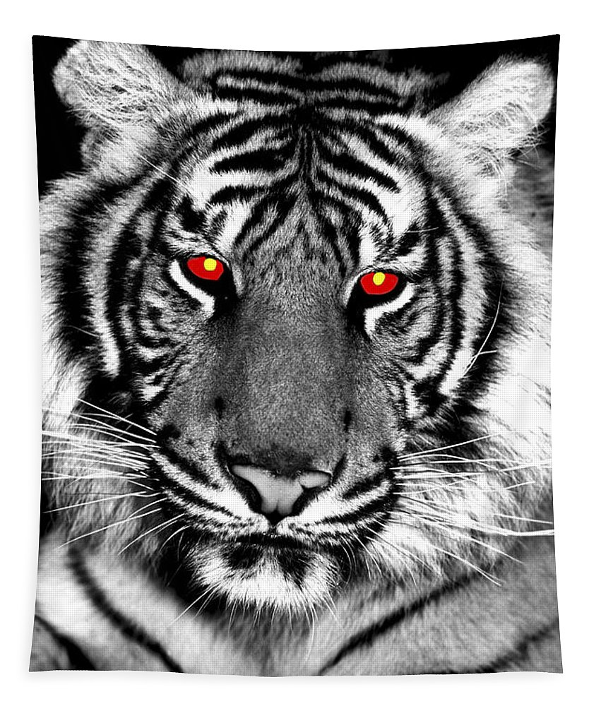 Tiger Tapestry featuring the photograph Hell Cat by Paul W Faust - Impressions of Light