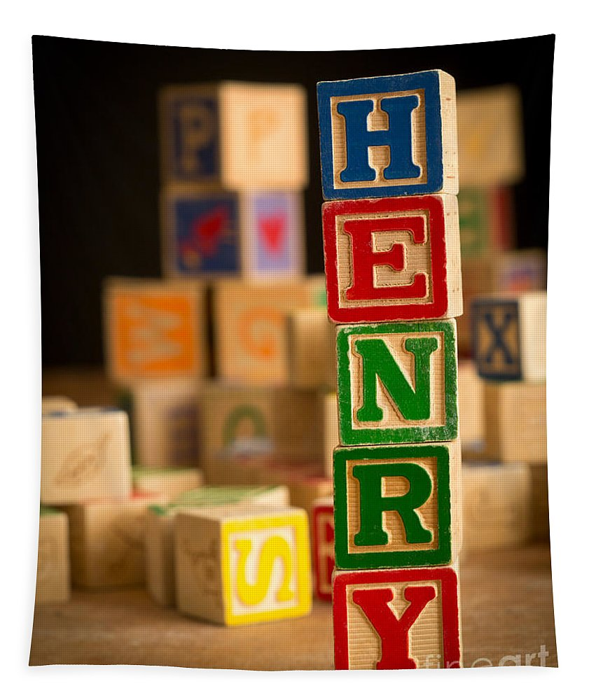 Abcs Tapestry featuring the photograph Henry - Alphabet Blocks by Edward Fielding