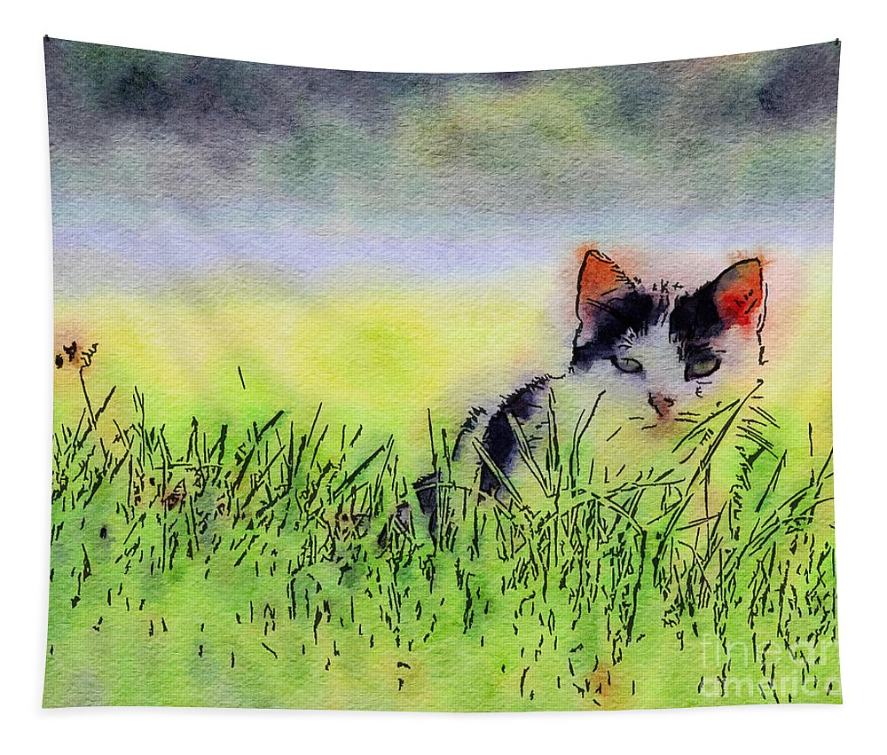 Kitten Tapestry featuring the photograph Here Kitty Kitty Kitty by Kerri Farley