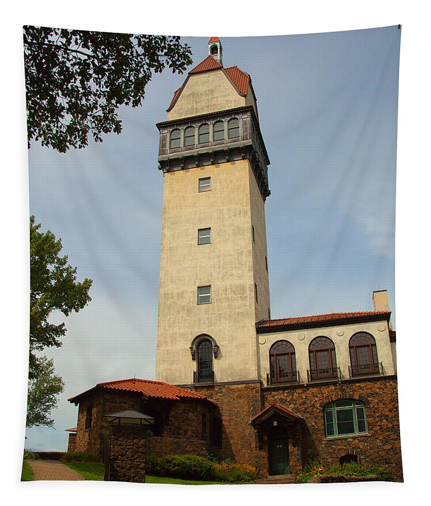 Tower Tapestry featuring the photograph Heublein Tower by Karol Livote