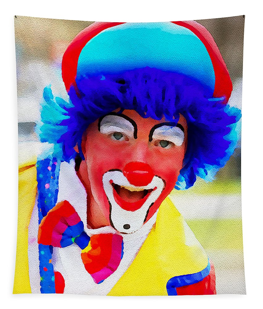 Clown Tapestry featuring the photograph Hey You by Alice Gipson