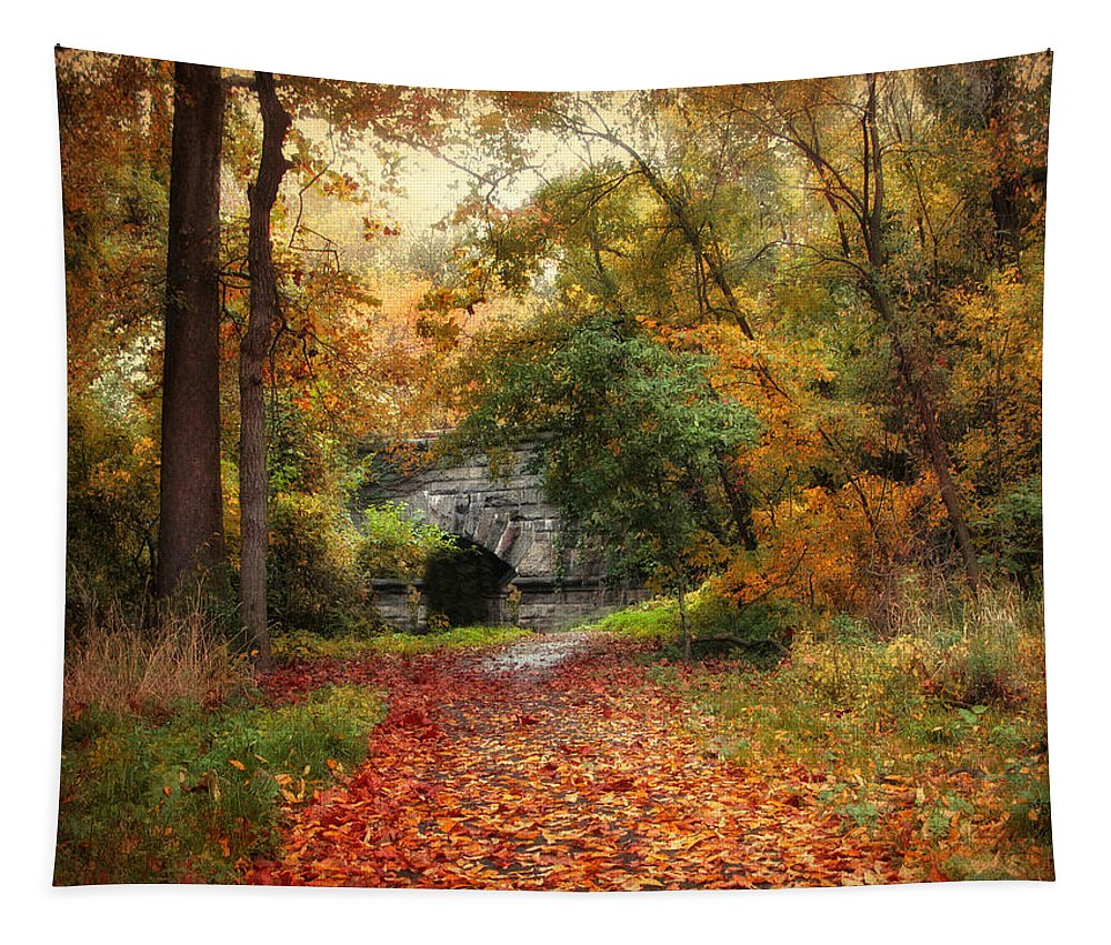 Nature Tapestry featuring the photograph Hidden Away by Jessica Jenney