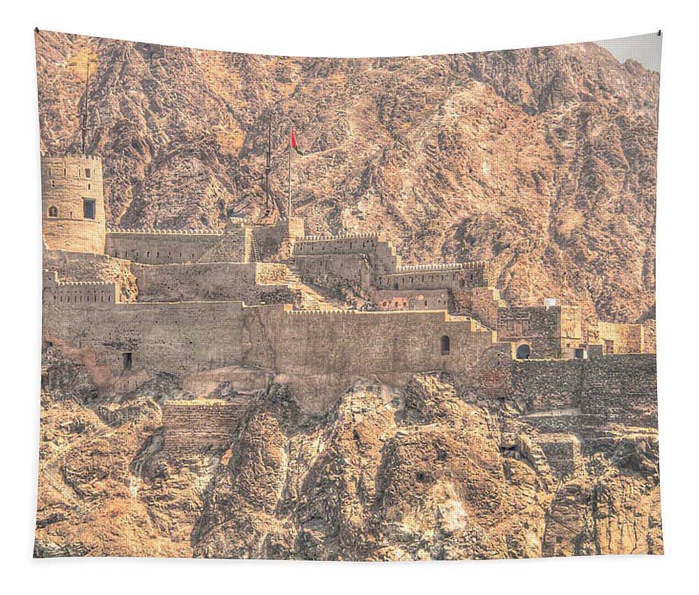 Muscat Tapestry featuring the photograph Hidden Castle by Alex Hiemstra