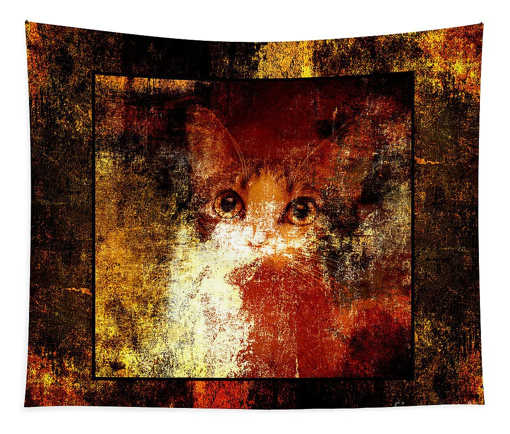 Abstract Tapestry featuring the photograph Hidden Square by Andee Design