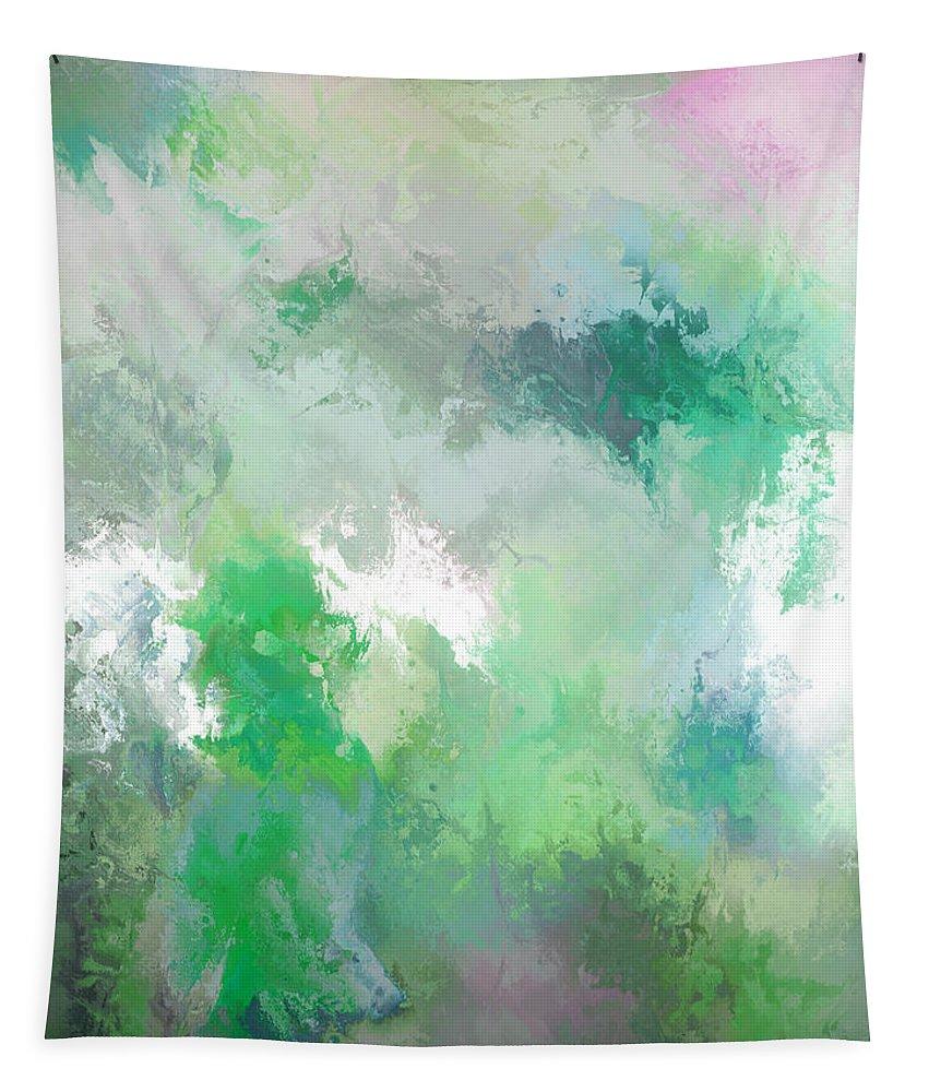 John Emmett Tapestry featuring the painting hidden valley II by John WR Emmett