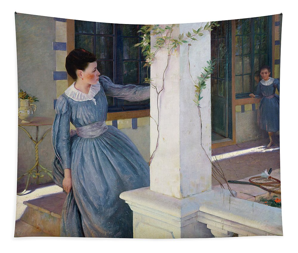 Hide Tapestry featuring the painting Hide And Seek by Paul Edouard Rosset Granger
