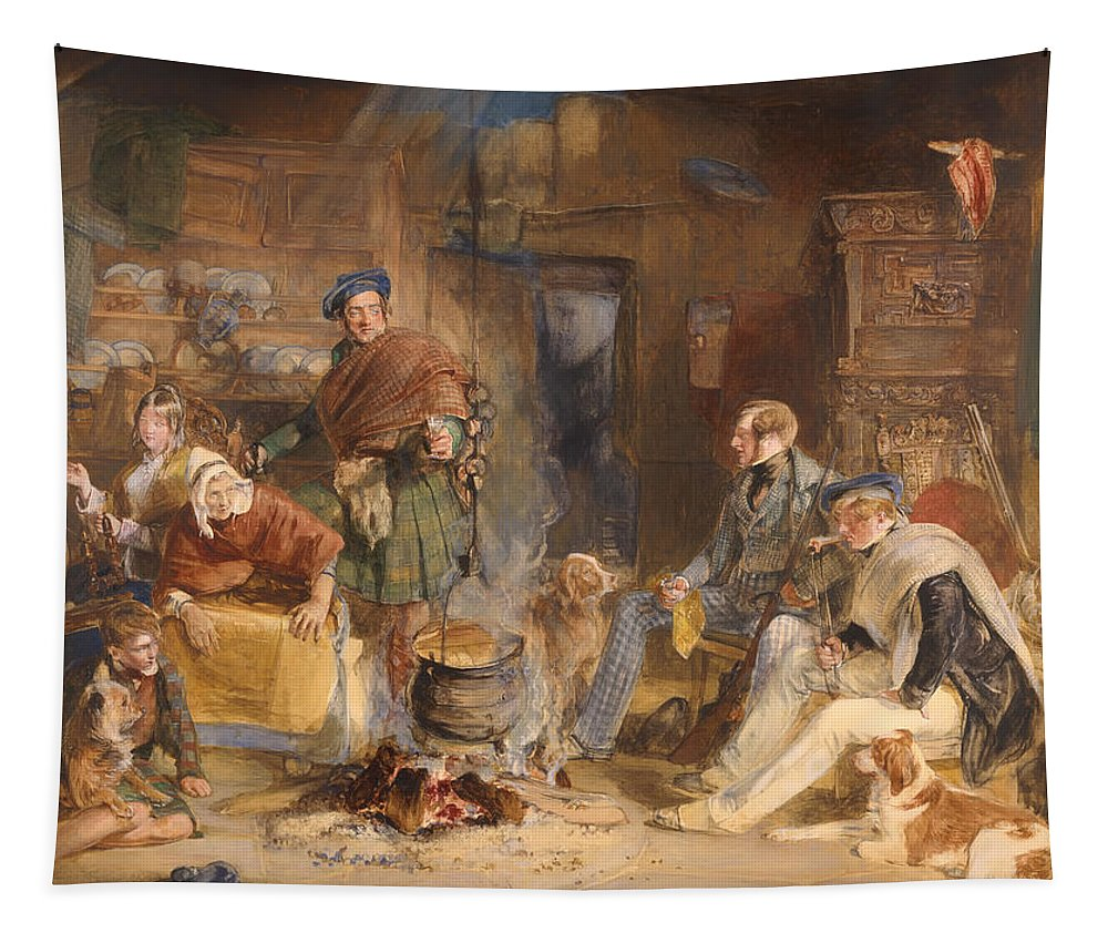 Painting Tapestry featuring the painting Highland Hospitality by Mountain Dreams