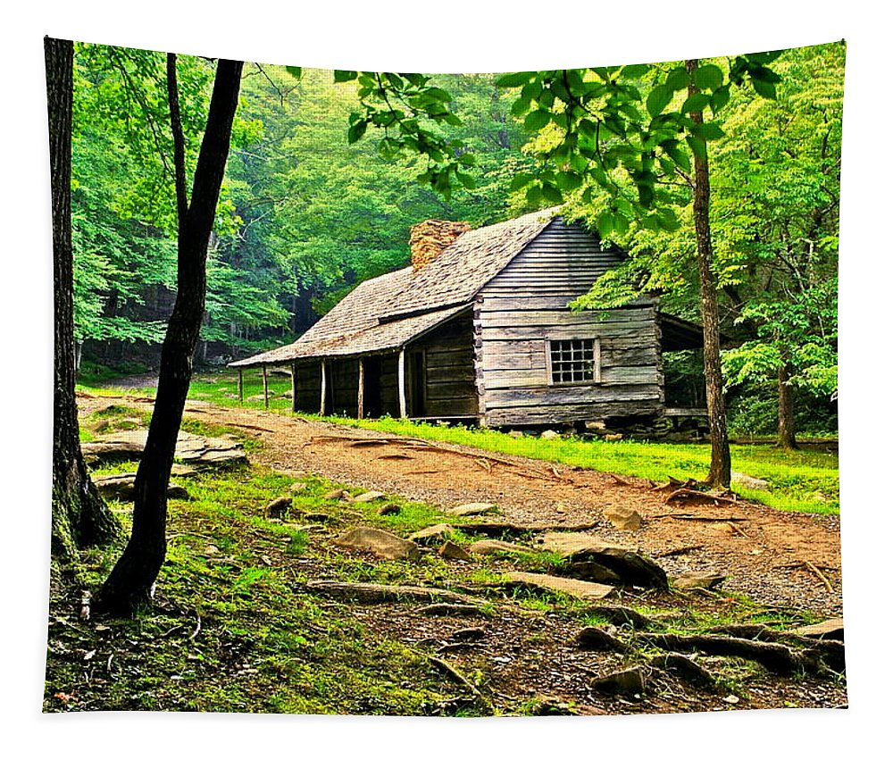 Hillbilly Tapestry featuring the photograph Hillbilly Heaven by Frozen in Time Fine Art Photography
