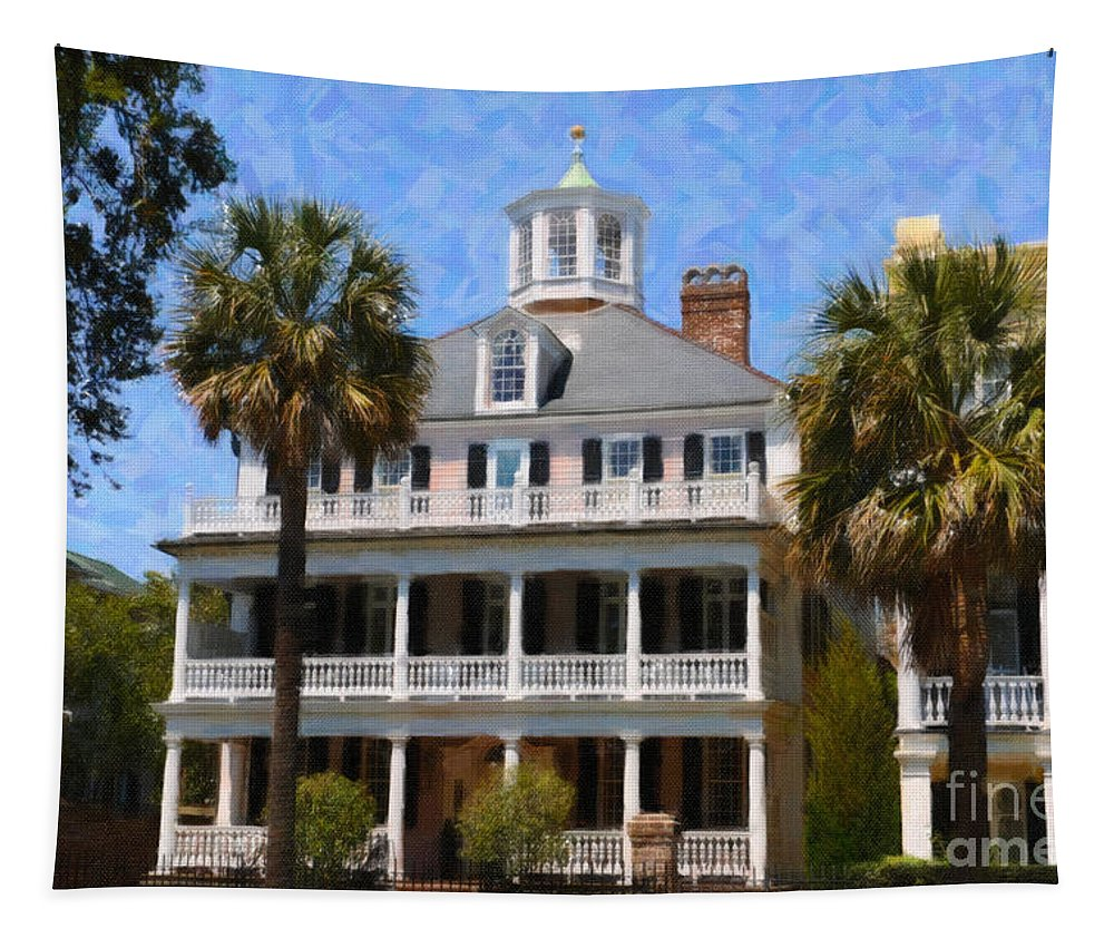 Historic Tapestry featuring the digital art Historic Battery Home by Dale Powell