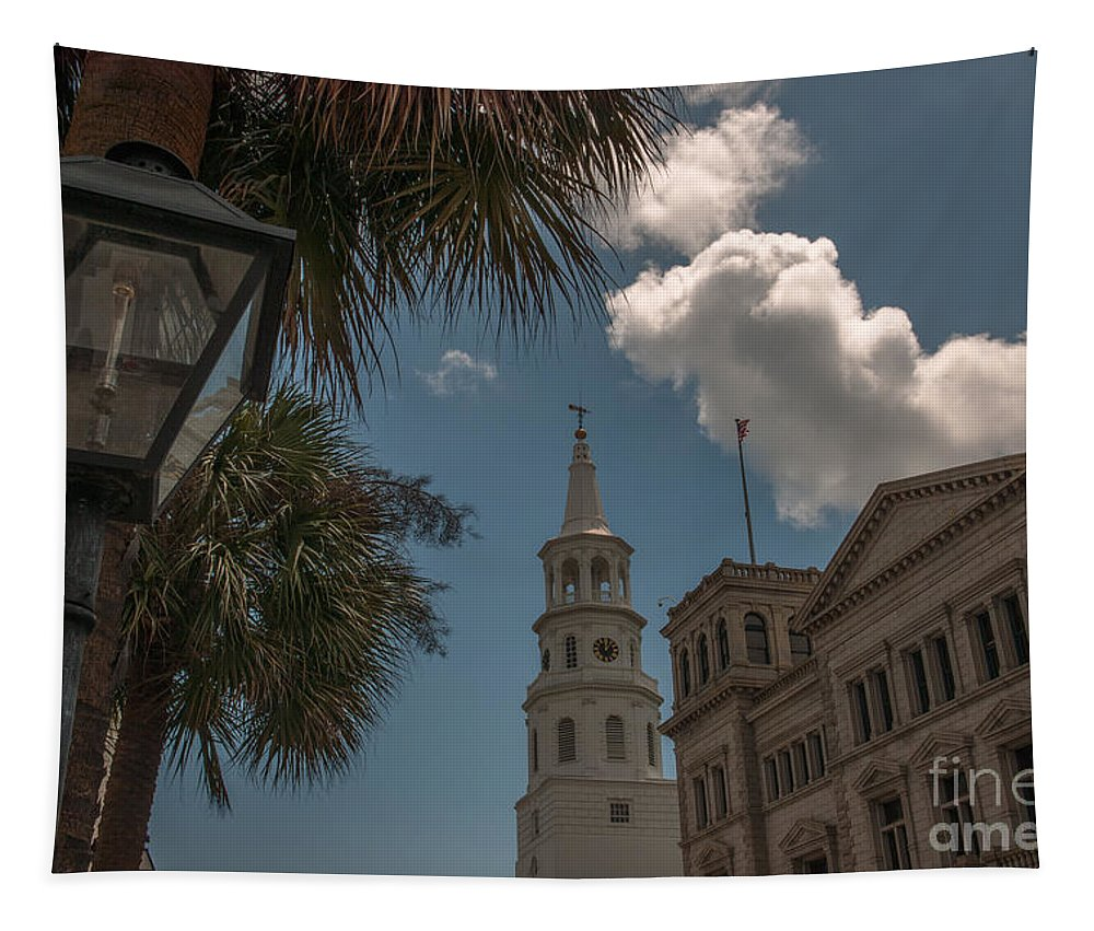 St. Michael�s Episcopal Church Tapestry featuring the photograph Historic Charleston by Dale Powell