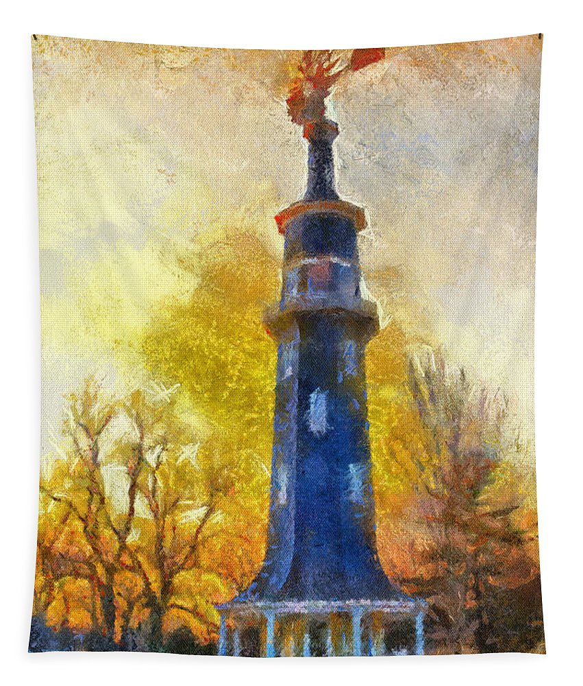 Windmill Tapestry featuring the photograph Historic Windmill Dwight Il Photo Art by Thomas Woolworth