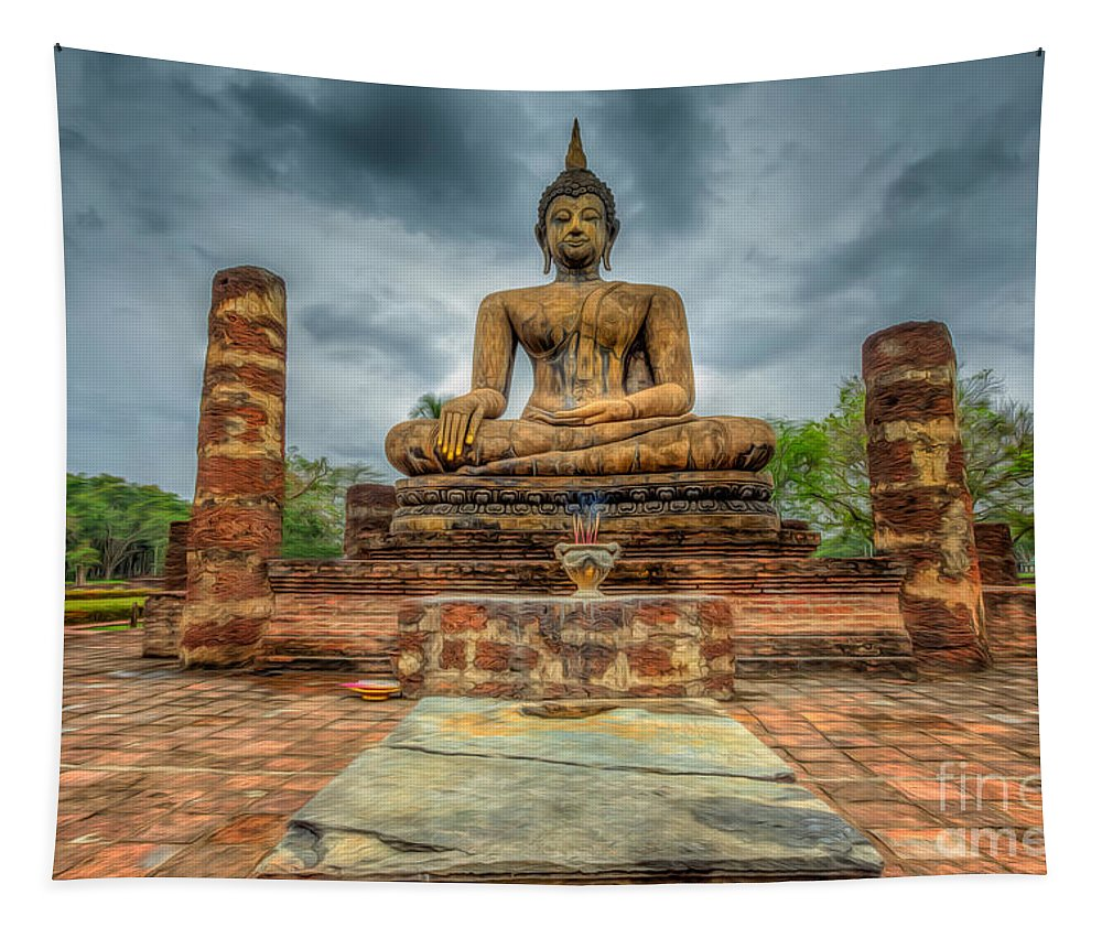 Buddha Tapestry featuring the photograph Historical Park by Adrian Evans