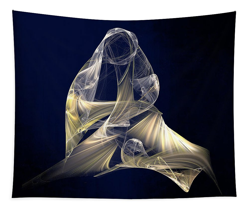 Christmas Tapestry featuring the digital art Holy Mother And Child Abstract II by Susan Savad
