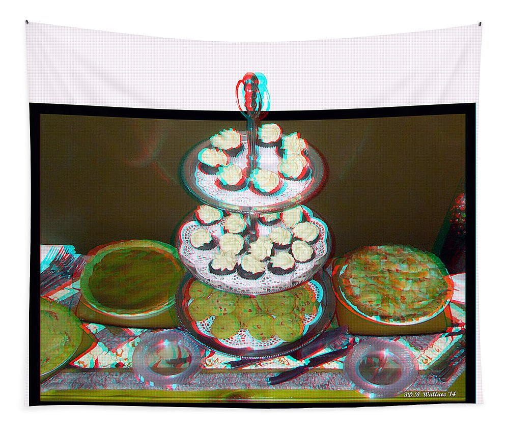 3d Tapestry featuring the photograph Home For The Holidays - Use Red-cyan 3d Glasses by Brian Wallace
