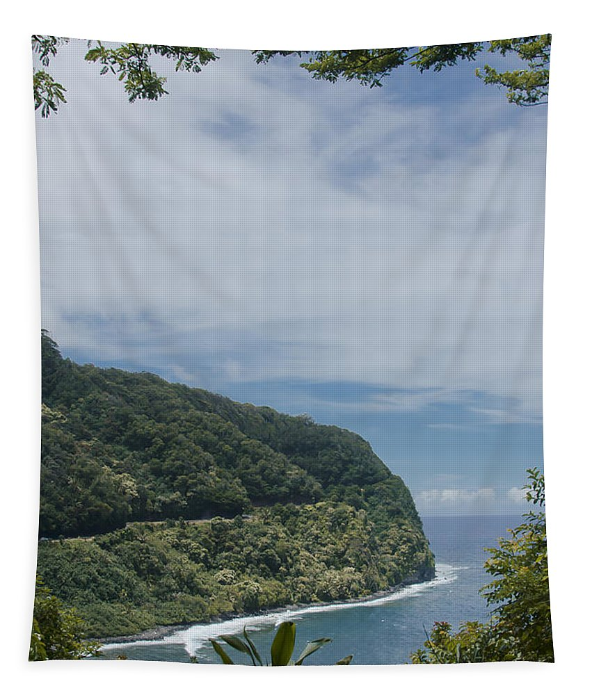 Aloha Tapestry featuring the photograph Honomanu Highway To Heaven Road To Hana Maui Hawaii by Sharon Mau