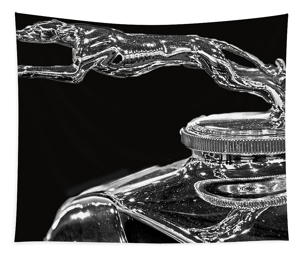 Car Tapestry featuring the photograph Hood Ornament by Tom Gari Gallery-Three-Photography
