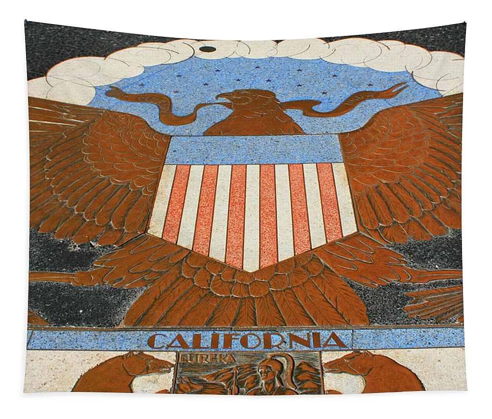 Hoover Dam Tapestry featuring the photograph Hoover Dam Memorial by Susan McMenamin