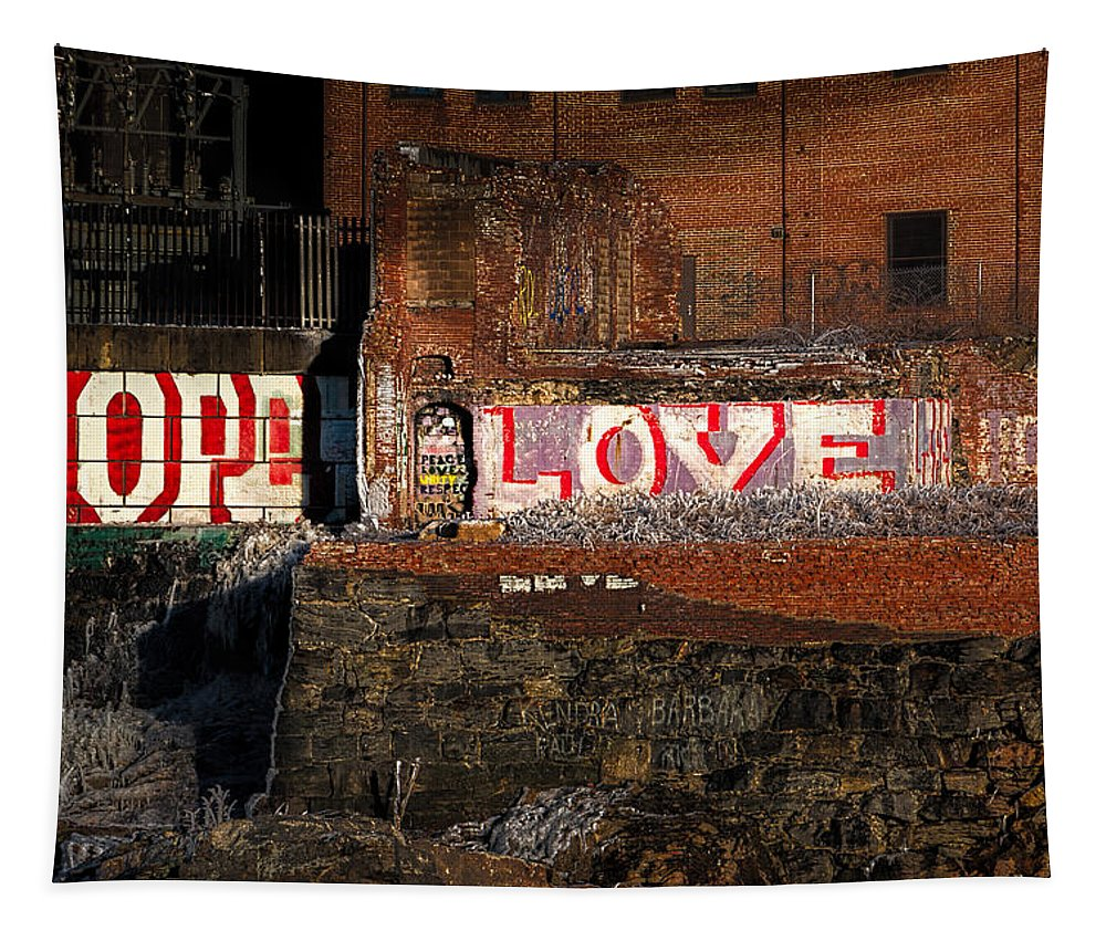 Urban Tapestry featuring the photograph Hope Love Lovelife by Bob Orsillo