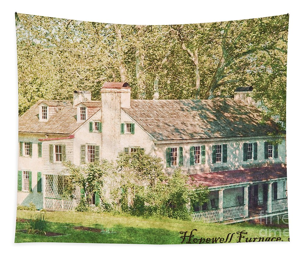 Hopewell Tapestry featuring the photograph Hopewell Furnace In Pennsylvania by Olivier Le Queinec
